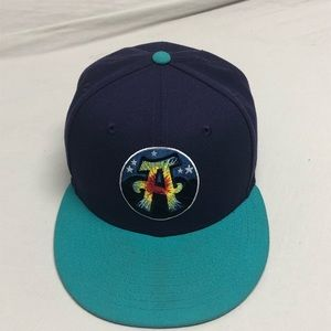 Asheville Tourists/Hippies Tie Dye Fitted7 1/4
